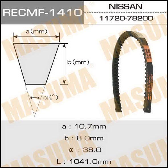 Ремень клиновидный  Masuma  рк.1410 (10x1042)