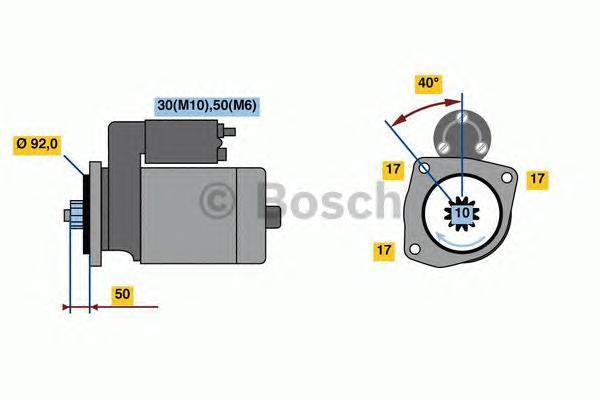 СТАРТЕР. Bosch (0001261006)