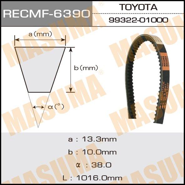 Ремень клиновидный  Masuma  рк.6390 (13x991)