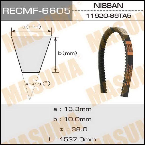 Ремень клиновидный  Masuma  рк.6605 (13x1537)