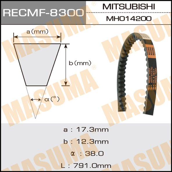 Ремень клиновидный  Masuma  рк.8300 (17x762)снят
