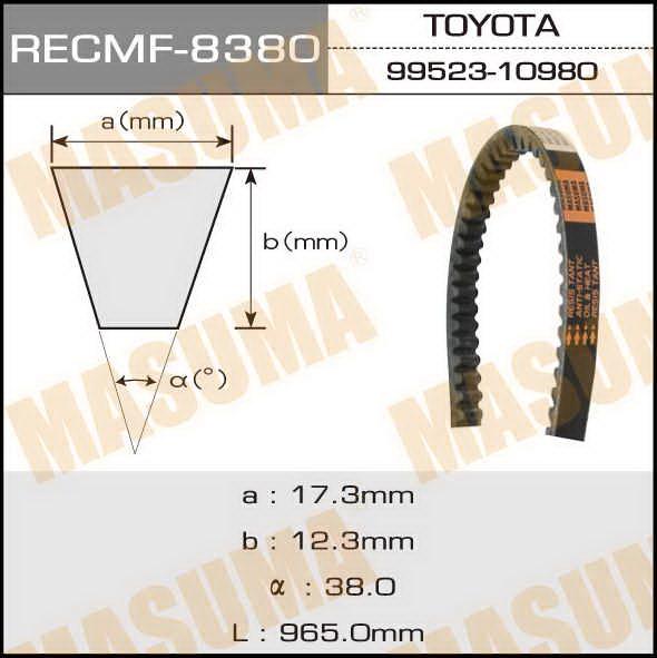 Ремень клиновидный  Masuma  рк.8380 (17x965)