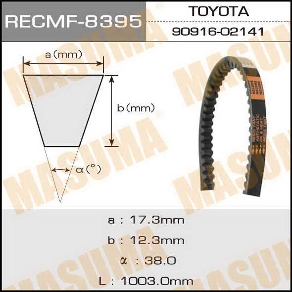 Ремень клиновидный  Masuma  рк.8395 (17x1003)