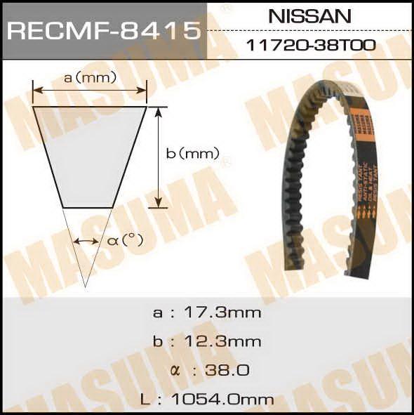 Ремень клиновидный  Masuma  рк.8415 (17x1054)