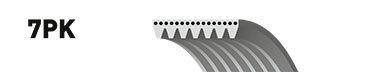 Ремень поликлиновой 7PK1325. Gates