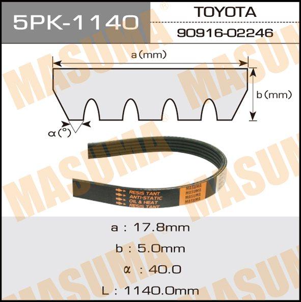Ремень ручейковый  Masuma  5PK-1140