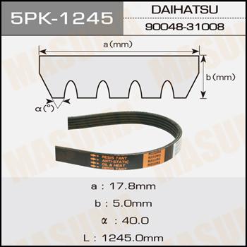 Ремень ручейковый  Masuma  5PK-1245