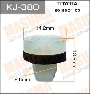 Покер пластм.крепежный  Masuma  380-KJ (уп.50шт). (KJ-380)