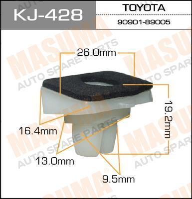 Покер пластм.крепежный  Masuma  428-KJ (уп.50шт). (KJ-428)