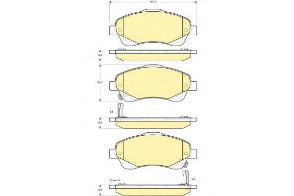 Колодки пер.. Kashiyama (D2233M)