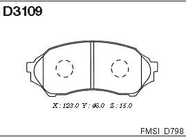 Колодки дисковые передние. Kashiyama (D3109)