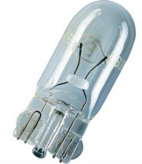 Лампа дополнительного освещения 12V 8W - без цоколя T10. KOITO (1586)