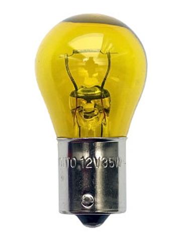 Лампа дополнительного освещения 24V 35W S25 ( желтый). KOITO (4620Y)