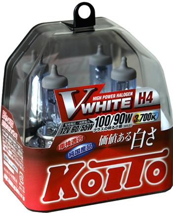 Лампы H4 12V60/55W=>100/90W P43t-38 T16 2pcs VWHIT. KOITO (P0746W)
