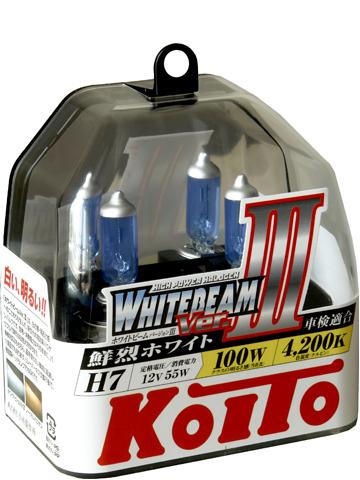 Лампа высокотемпературная Whitebeam, комплектH7 12V 55W (100W) пластиковая упаковка - 2 шт.. KOITO (P0755W)