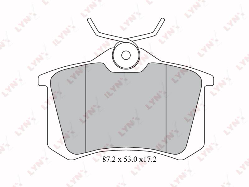1206BD Тормозные колодки дисковые LYNX, компл. (BD-1206)