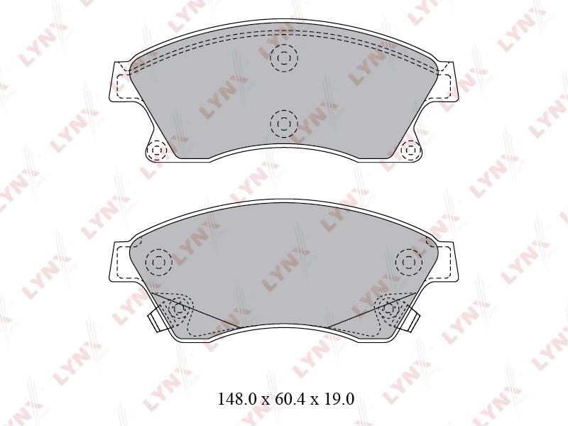 1810BD Тормозные колодки дисковые LYNX, компл. (BD-1810)