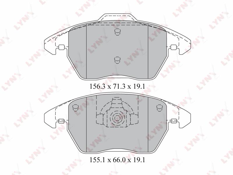 2206BD Тормозные колодки дисковые LYNX, шт. (BD-2206)