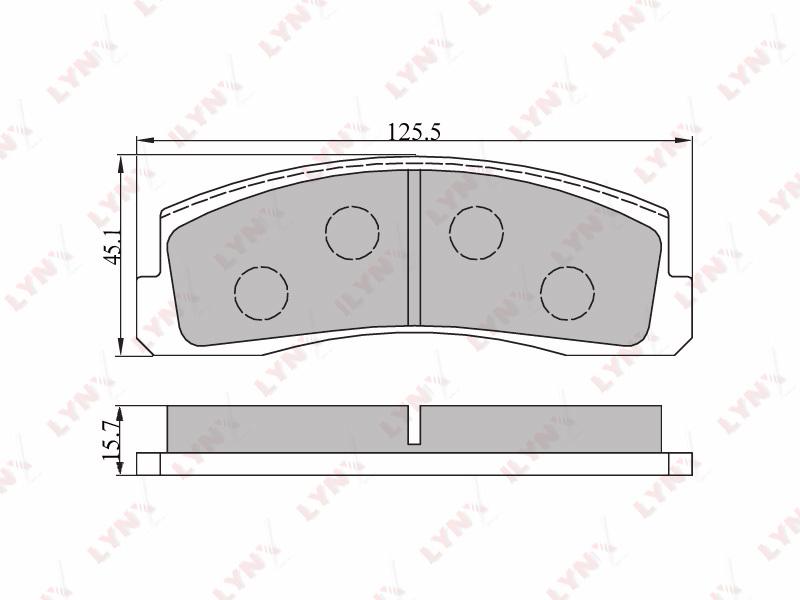 4602BD Тормозные колодки дисковые LYNX, компл. (BD-4602)