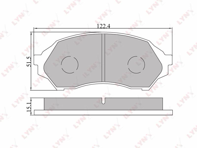 5103BD Тормозные колодки дисковые LYNX, компл. (BD-5103)