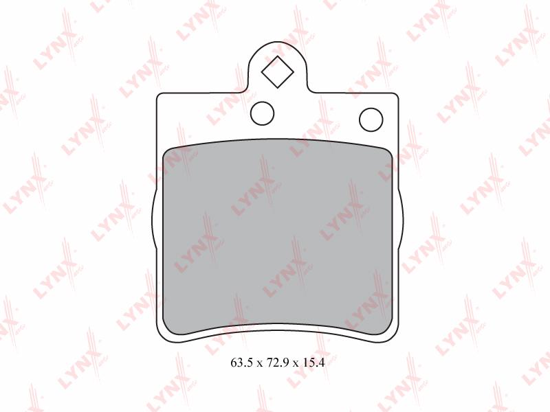 5315BD Тормозные колодки дисковые LYNX, шт. (BD-5315)