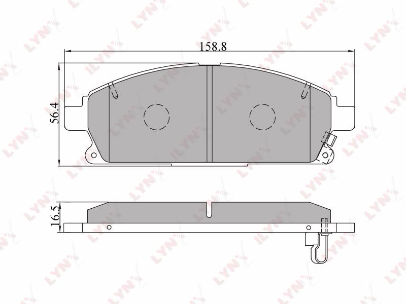 5704BD Тормозные колодки дисковые LYNX, компл. (BD-5704)