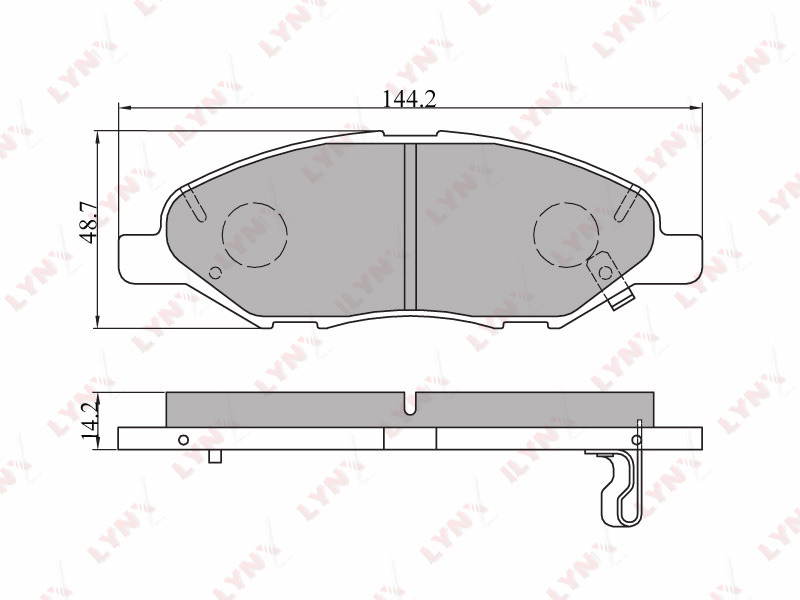 5707BD Тормозные колодки дисковые LYNX, компл. (BD-5707)