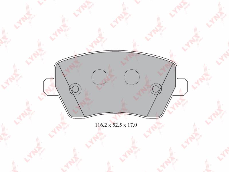 5739BD Тормозные колодки дисковые LYNX, компл. (BD-5739)