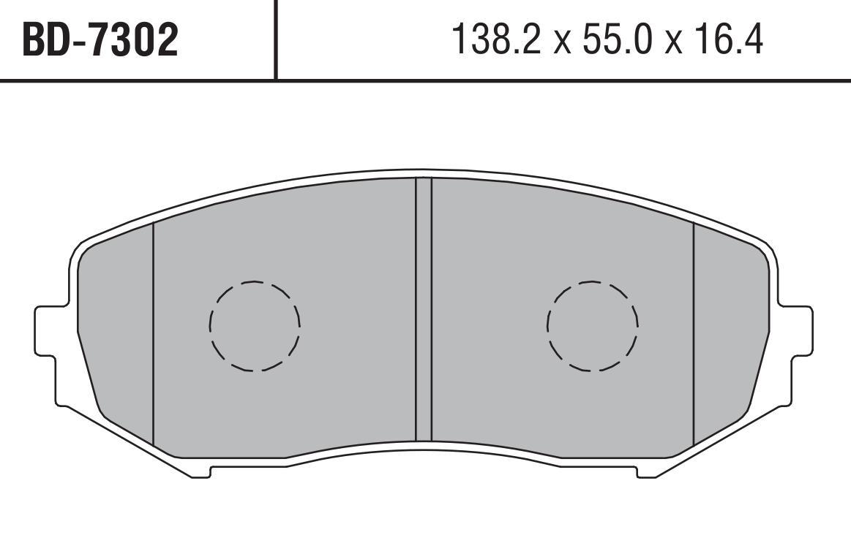 7302BD Тормозные колодки дисковые LYNX, компл. (BD-7302)