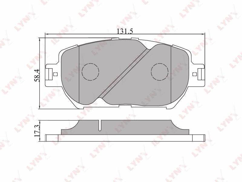 7522BD Тормозные колодки дисковые LYNX, компл. (BD-7522)