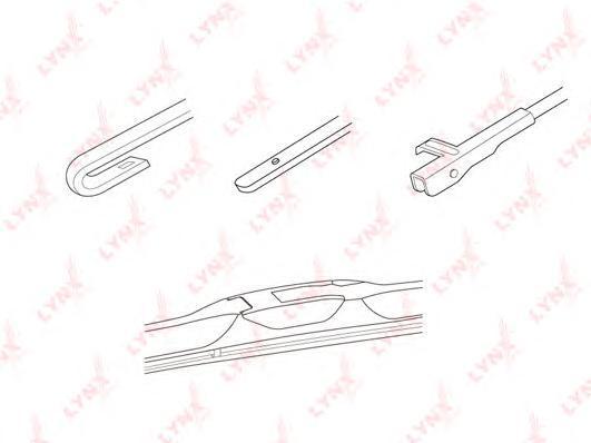 350LX Щетка стеклоочистителя гибридная LYNX, шт. (LX350)