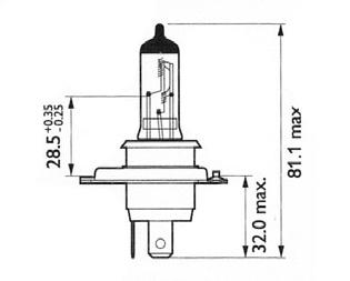 10460 H4 12V60/55W P43T-38 Лампа автом. LYNX, шт. (L10460)