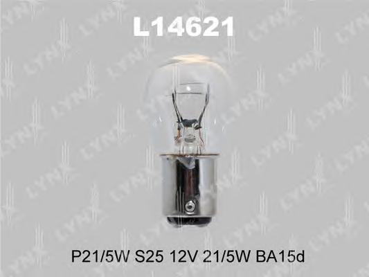 14621 P21/5W S25 12V 21/5W BA15D Лампа автомоб.LYNX, шт. (L14621)