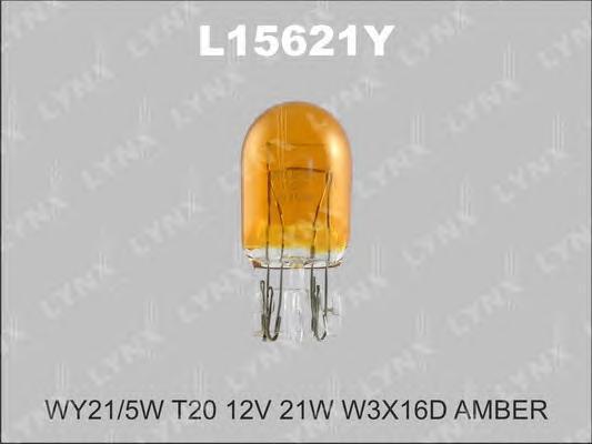 15621Y WY21W T20 12V21W W3X16DЛампа авт.(10шт.), шт. Lynx (L15621Y)