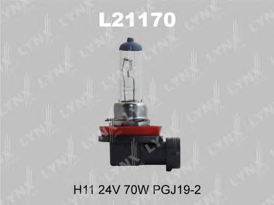 21170 H11 24V 70W PGJ19-2 Лампа автом. LYNX, шт. (L21170)