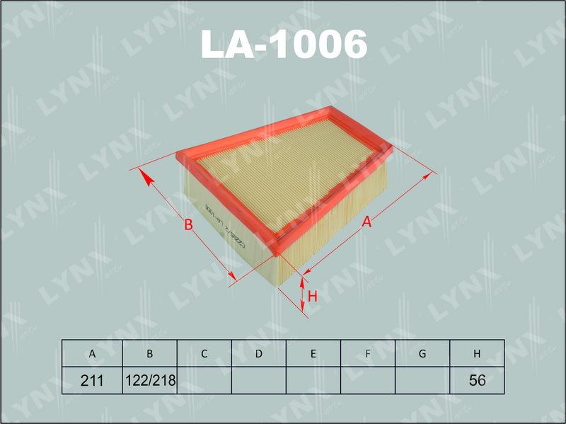 1006 LA/A0191 Фильтр воздушный LYNX, шт. (LA-1006)