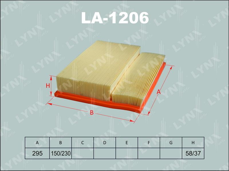 1206 LA/A0053 Фильтр воздушный LYNX, шт. (LA-1206)