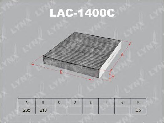 1400С LAC/AC0109 Фильтр салонный LYNX, шт. (LAC-1400C)