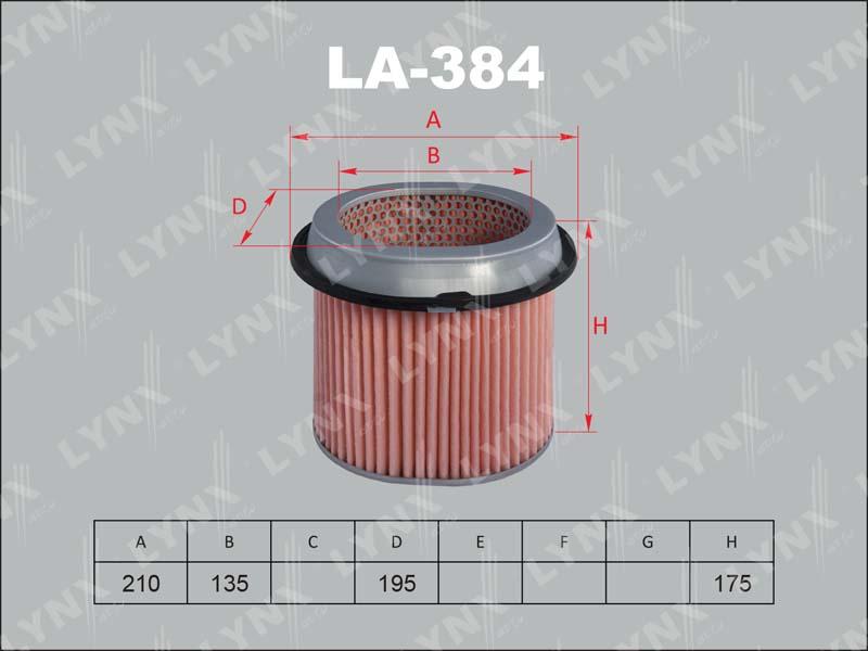 384 LA/A344/3013 Фильтр воздушный LYNX, шт. (LA-384)