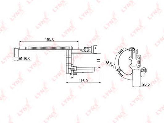 992 LFM/FS13001 Фильтр топливный погружной LYNX, шт. (LF-992M)