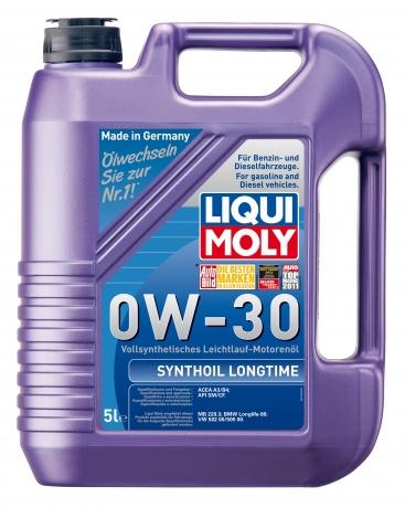 Синт.мот.масло Synthoil Longtime 0W-30 SM/CF;A3/B4(5л), шт. Liqui moly (1172)