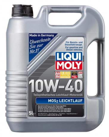 П/с.мот.масло MoS2 Leichtlauf 10W-40 SL/CF;A3/B3 (5л), шт. Liqui moly (1931)
