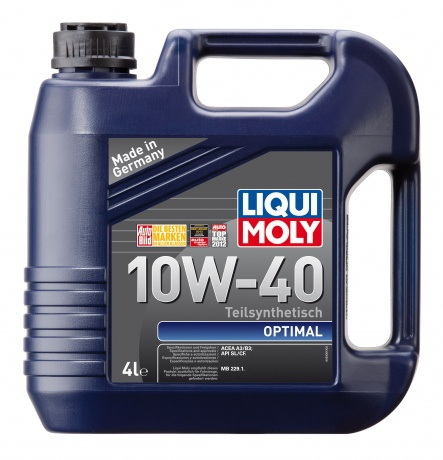 П/с.мот.масло Optimal 10W-40 SL/CF;A3/B3 (4л), шт. Liqui moly (3930)