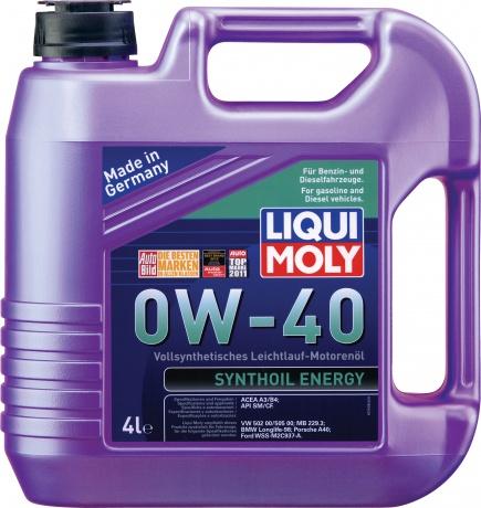 Синт.мот.масло Synthoil Energy 0W-40 SM/CF;A3/B4(4л), шт. Liqui moly (7536)