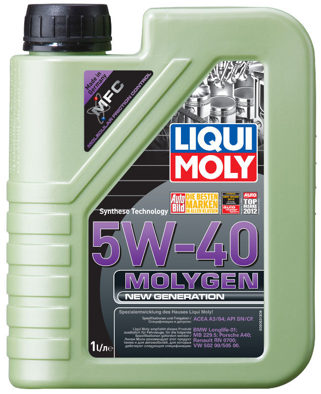 НС-синт.мот.масло Molygen New Generation 5W-40 SN/CF;A3/B4 (1л), шт. Liqui moly (9053)