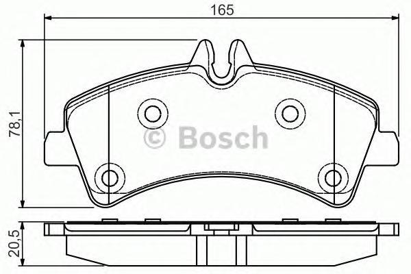 ДИСКОВЫЕ КОЛОДКИ ЗАДНИЕ. Bosch (0986495099)