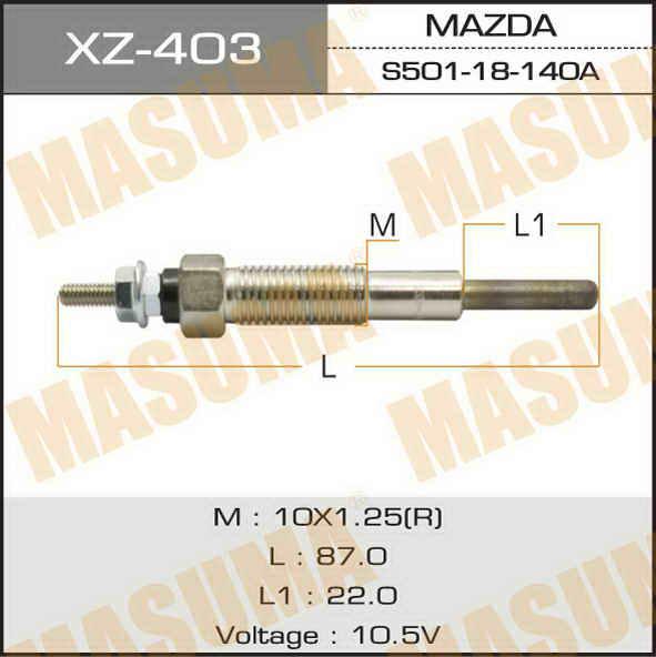 Свеча накаливания  Masuma  PZ-33 /R2, RF, XA (1/10/100). (XZ-403)