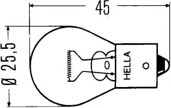 Лампа накаливания P21W 24V 21W BA 15s. Behr-hella (8GA002073-241)