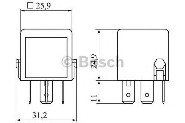 МИНИ-РЕЛЕ 12В. Bosch (0986332040)