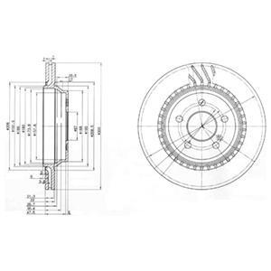 Тормозной диск (комплект) MB C(W203)/S(W220) R. Delphi (BG3726)